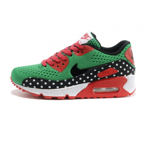 Women's Nike Air Max 90 EM Green Red Black White