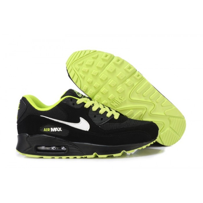 Men's Nike Air Maxs 90 Men Black White Green