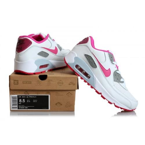 Women's Nike Air Maxs 90 Red Purple White