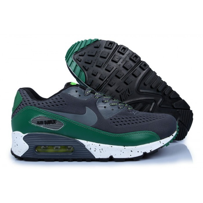 Women's Nike Air Max 90 Hyperfuse Premium Green White Black