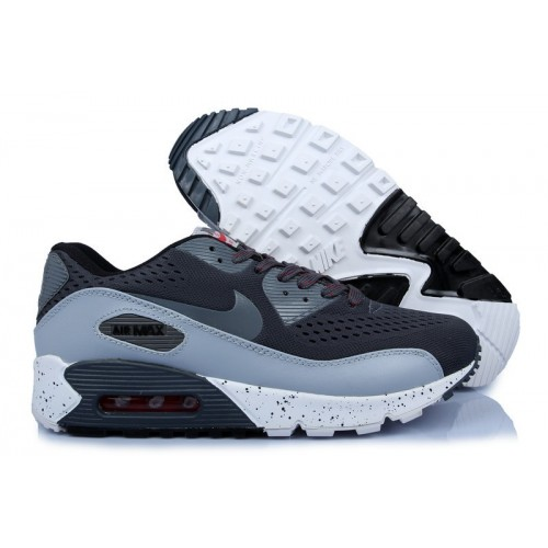 Women's Nike Air Max 90 Hyperfuse Premium Grey White Black