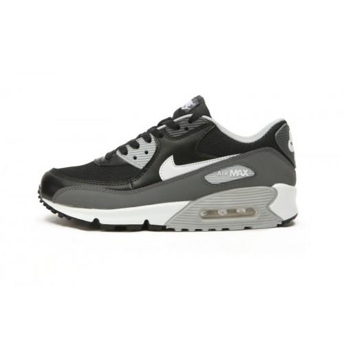 Women's Nike Air Maxs 90 Black Grey For