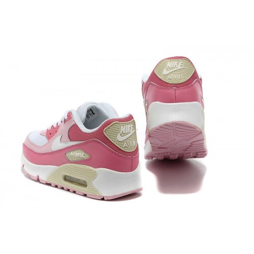 Women's Nike Air Maxs 90 White Pink For
