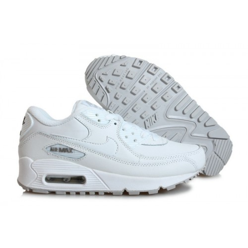 Women's Nike Air Max 90s In White Shoes