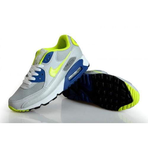 Women's Nike Air Max 90s Grey Green Black White