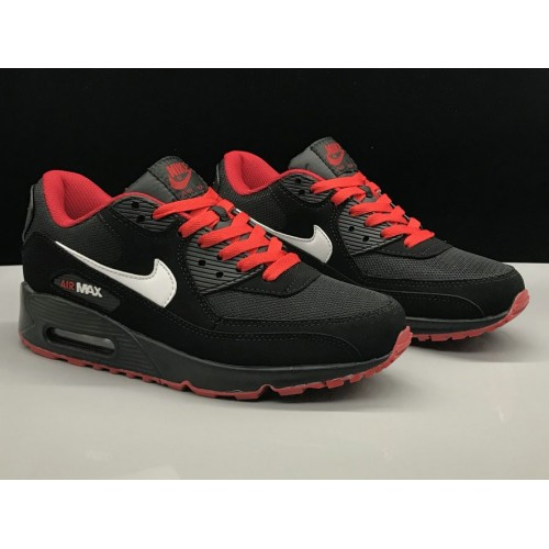Men's Nike Air Max 90 Classic Red White Black