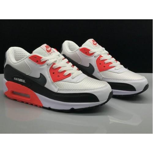 Men's Nike Air Max 90 Classic White Red Black