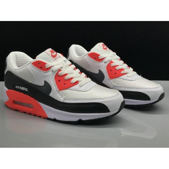 Slim Fit Nike Air Max 90,Men's Nike Air Max 90 Classic White Red Black