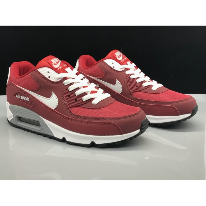 Men's Nike Air Max 90 Classic White Wine Red
