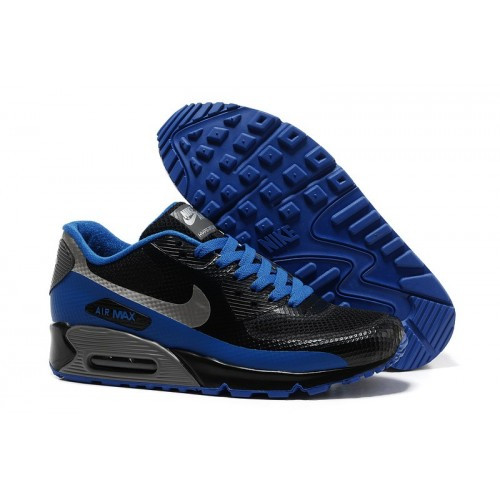 Men's Nike Air Max 90 Hyperfuse Blue Black Grey