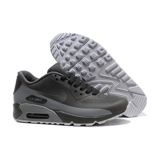 Men's Nike Air Max 90 Hyperfuse In Grey White