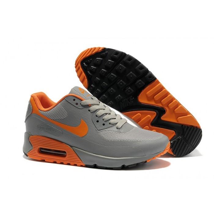 Men's Nike Air Max 90 Hyperfuse Orange Black Grey