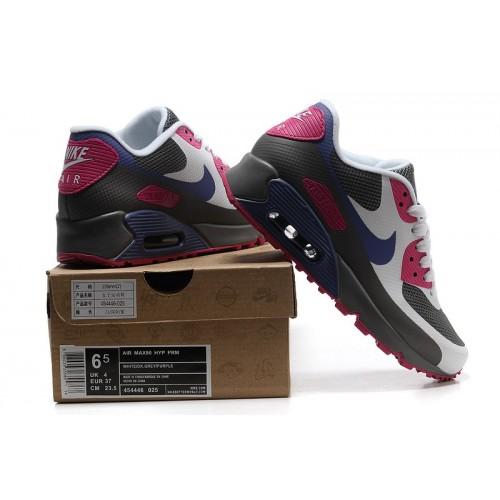 Women's Nike Air Max 90 Hyperfuse Purple Grey Blue White