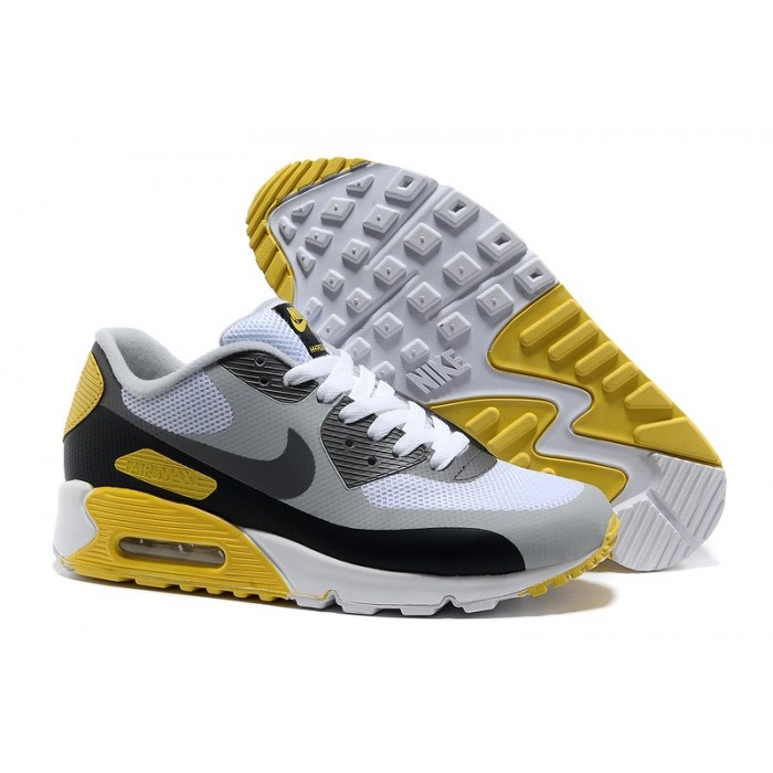 Women's Nike Air Max 90 Hyperfuse Yellow White Grey