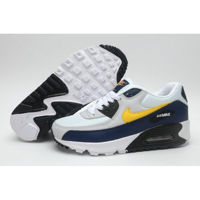 Women's Nike Air Maxs 90 Navy Blue White Yellow Black