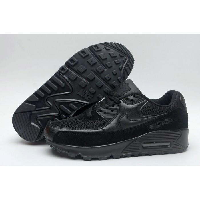 Women's Nike Air Maxs 90 Triple Black