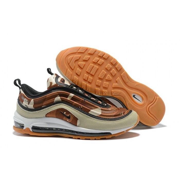 Men's 2018 Nike Air Max 97 SneakerBoots Cream Hyper Orange Sale