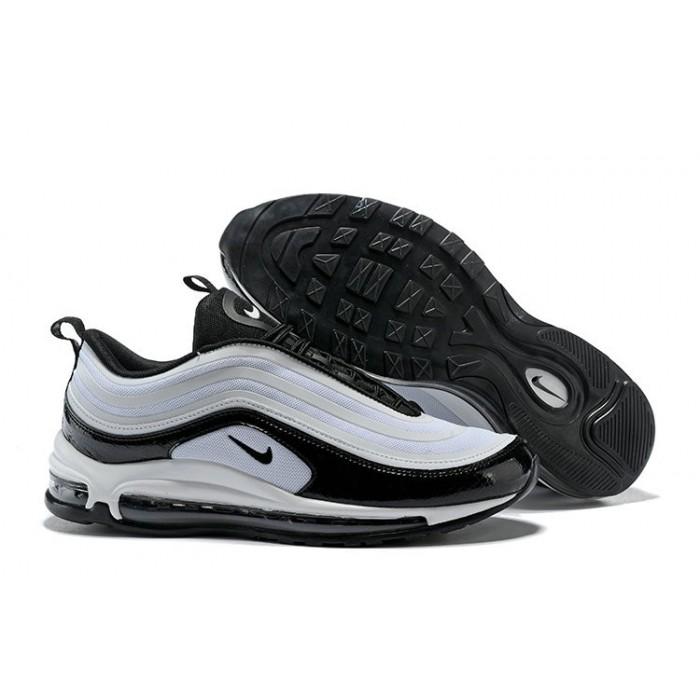 Men's 2018 Nike Air Max 97 SneakerBoots White Black Sale