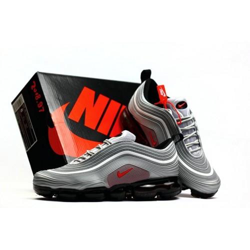 Men's 2018 Nike Air Max 97 Ultra VaporMax Grey Red Black