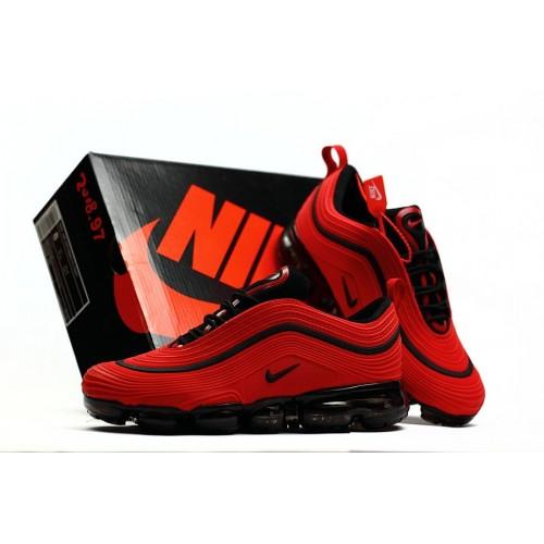 Men's 2018 Nike Air Max 97 Ultra VaporMax University Red Black