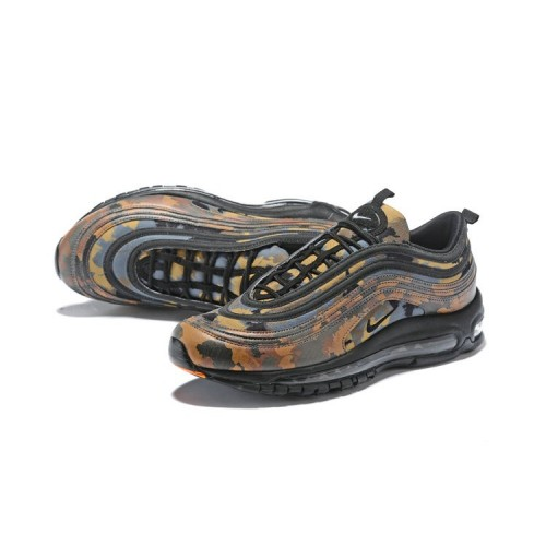 Men's 2018 Nike Lab Air Max x Nike Air Max 97 Camo Pack Black Orange Hyper
