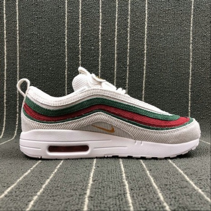 Women's 2018 Nike Air Max 97 1 VF SW White Red Rouge AJ4219-163