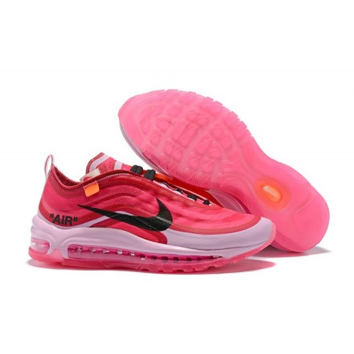 Women's 2018 Nike Air Max 97 SneakerBoots Off-White Pink Red White