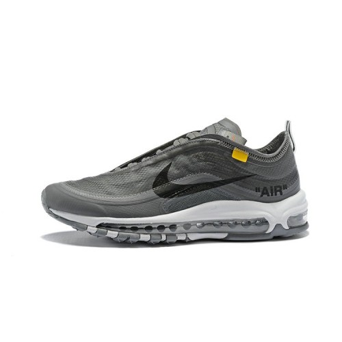 Women's 2018 Nike Air Max 97 SneakerBoots Off-White Wolf Grey Black Sale