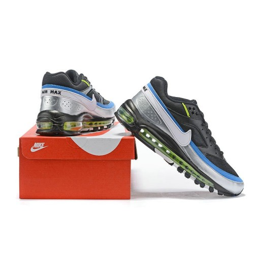 Men's 2019 Nike Air Max 97 Just DO IT Grey Blue Black Green