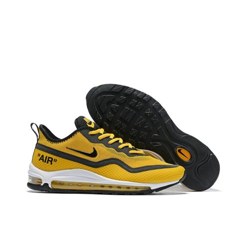 Men's 2019 Nike Air Max 97 Ultra 17 SE Yellow Black Grey White