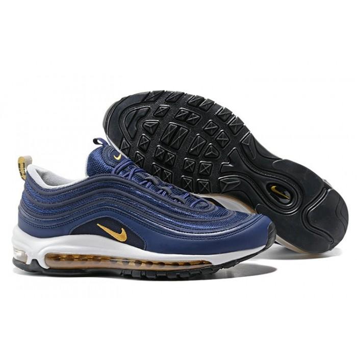 Men's Air Max 97 Nike Air Max Blue Gold White Black