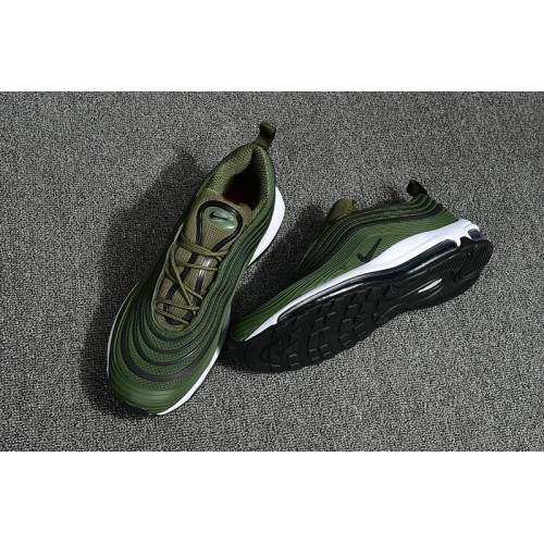 Men's Nike Air Max 97 Ultra 17 Army Green Black White
