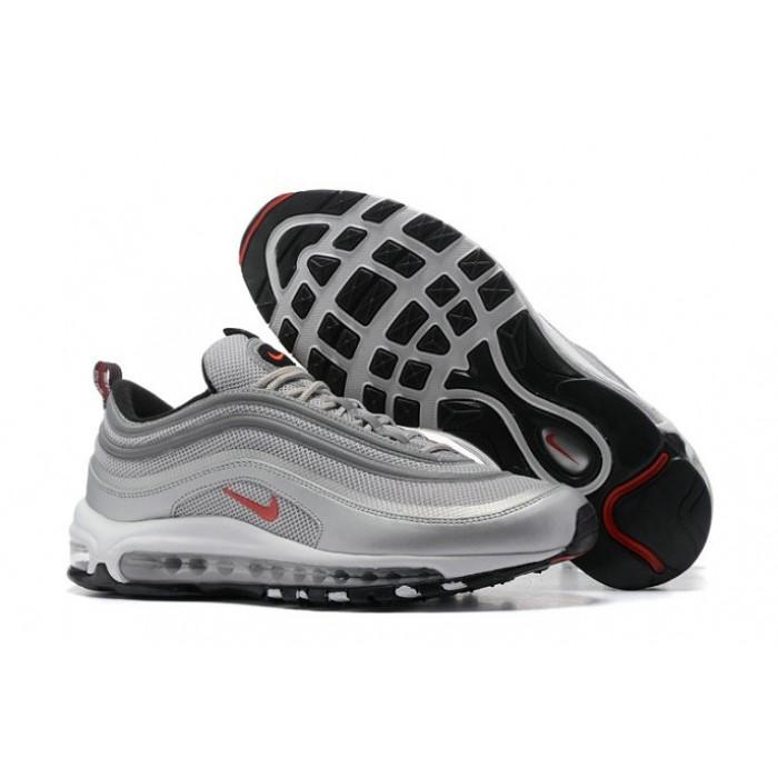 Men's Nike Air Max 97 Grey Red Black