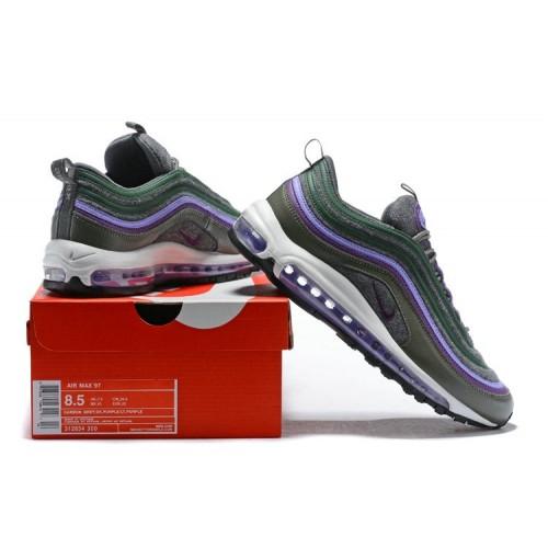 Men's Air Max x Nike Air Max 97 Purple Green Brown White Black