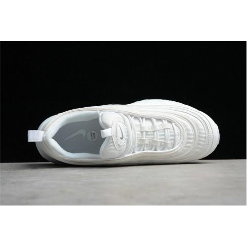 Men's/Women's Nike Air Max 97 Triple White White Wolf Grey-Black