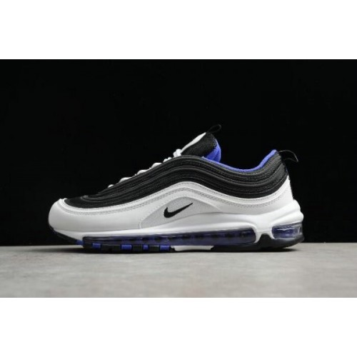 Men's New Nike Air Max 97 White Black-Persin Violet Size Shoes