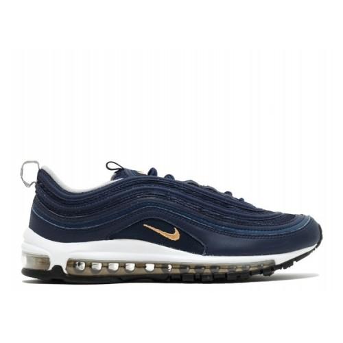 Men's Nike Air Max 97 921826-400 Midnight Navy Metallic Gold