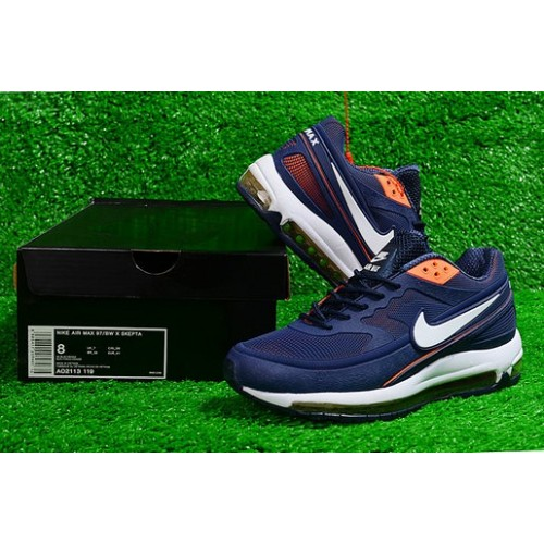 Men's Nike Air Max 97 BW Skepta Navy Blue White Orange