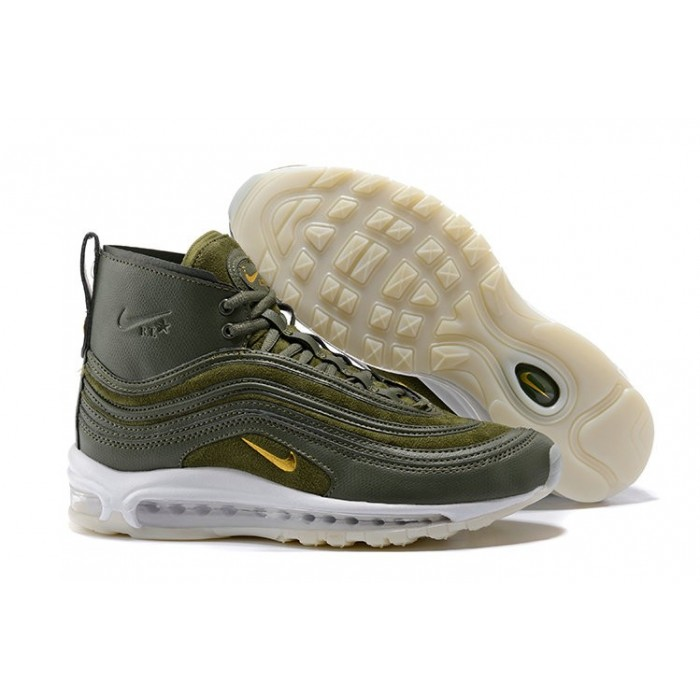 Men's Nike Air Max 97 Boots Army Green White Yellow