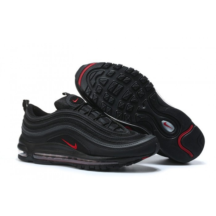 Men's/Women's Nike Air Max 97 Black Fire Red