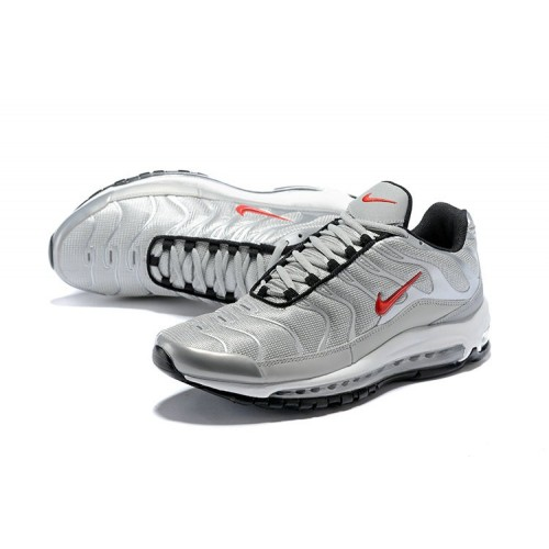 Men's Nike Air Max 97 Plus Max TN Silver Red Black