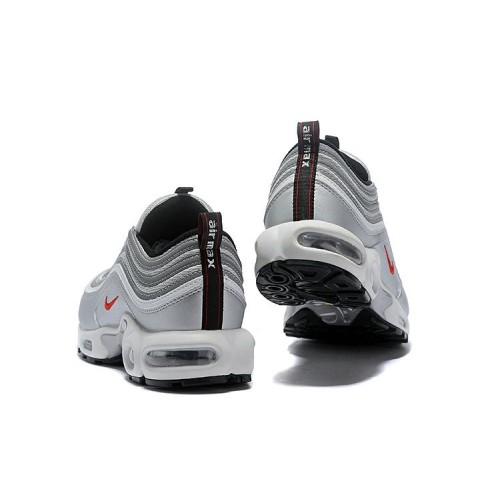 Women's Nike Air Max 97 Plus Silver Grey Black Red White