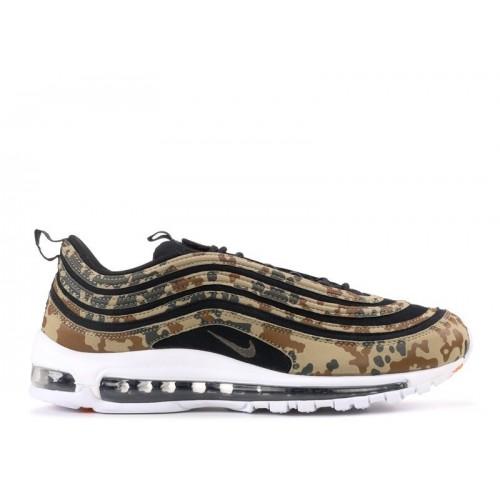 Men's Nike Air Max 97 Premium Qs Germany Country Camo Black-Dark Khaki