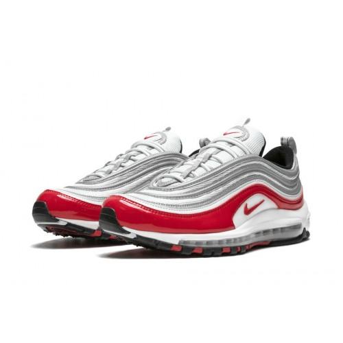 Women's Nike Air Max 97 Pure Platinum University Red-White