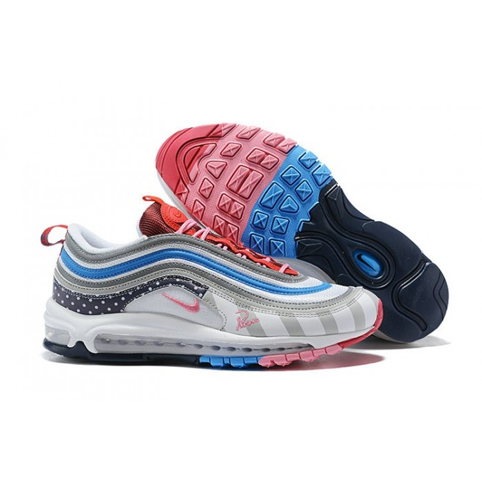Women's Nike Air Max 97 Running Shoes White Grey Blue Pink