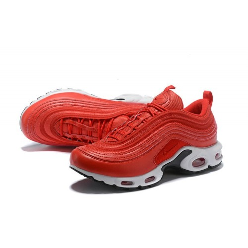 Men's Nike Air Max Plus 97 University Red Black White