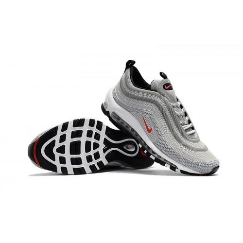 Men's Nike Air Max 97 Red Grey Black