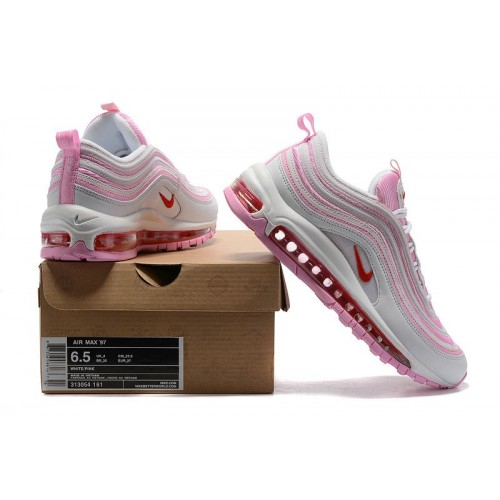 Women's Sale Nike Air Max 97 White Pink Red