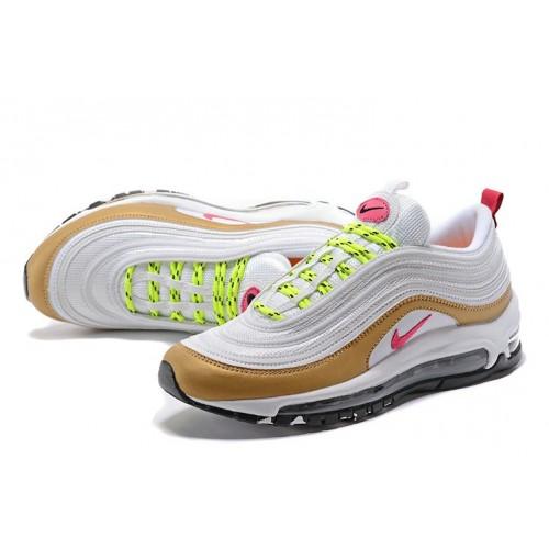 Women's Nike Lab Air Max 97 Premium White Pink Gold Black