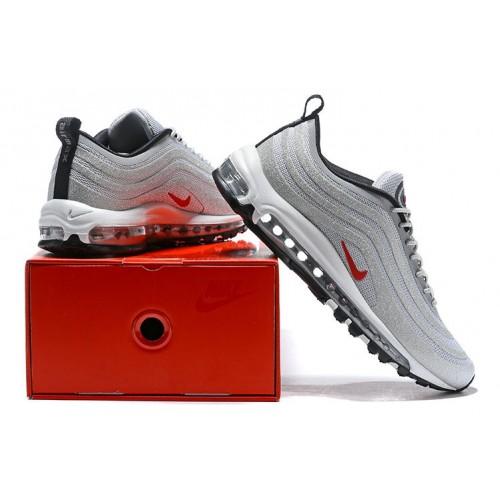 Women's Nike Lab Air Max 97 Swarovski Grey Red Black